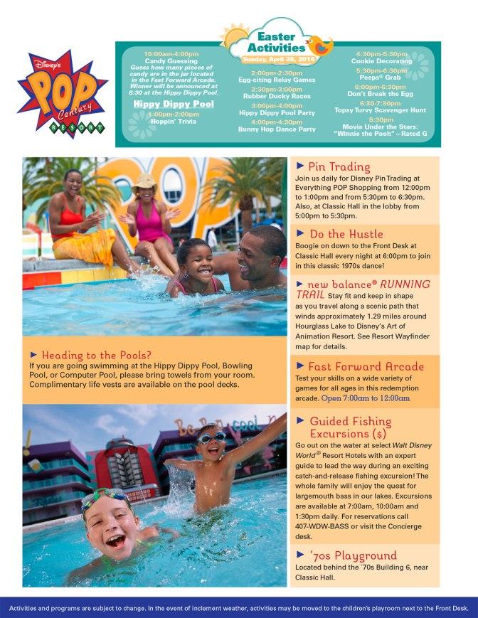 Pop Centrury Resort Recreation Activity Guide