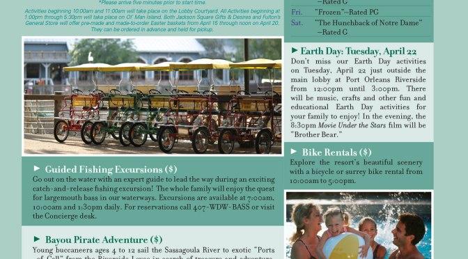 Port Orleans Riverside Resort Recreation Activity Guide