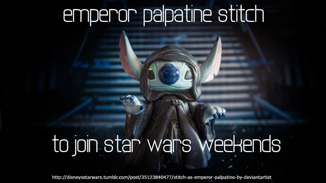Emperor Palpatine Stitch may be coming to Star Wars Weekends 2014