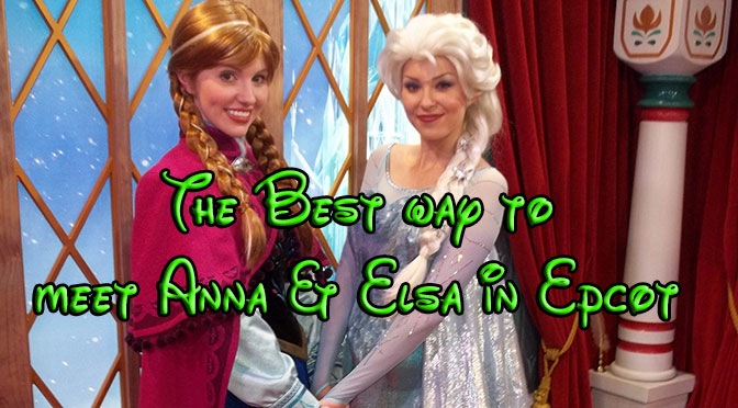 The Best time to meet Anna and Elsa from Frozen at Epcot