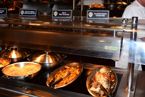 Buffet at Jedi Mickey Star Wars Diner at Hollywood and Vine in Disney Hollywood Studios