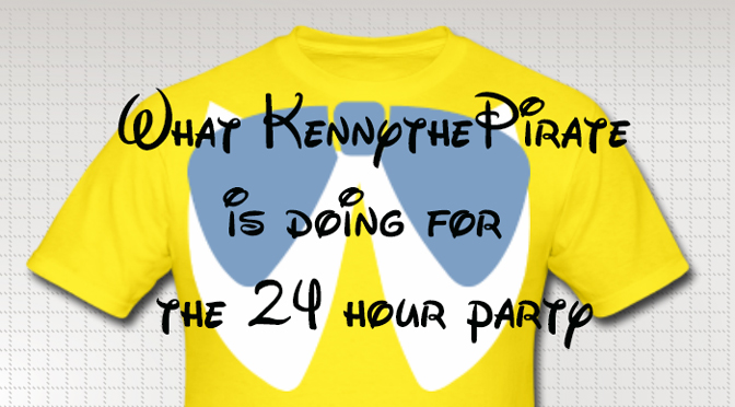 What will KennythePirate be doing for the Rock Your Disney Side 24 hour party?