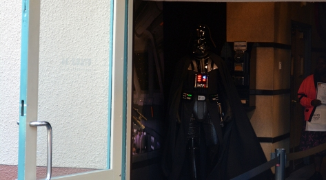 Boba Fett and Darth Vader at Star Wars Galactic Dine-in Character Breakfast at Hollywood Studios