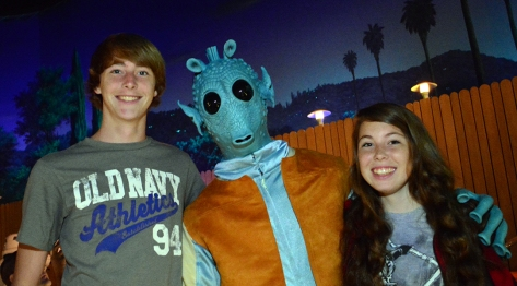 Greedo at Star Wars Galactic Dine-in Character Breakfast at Hollywood Studios