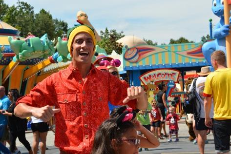 Disney Cast Member at Animal Kingdom Dinoland Dance a Palooza dance party