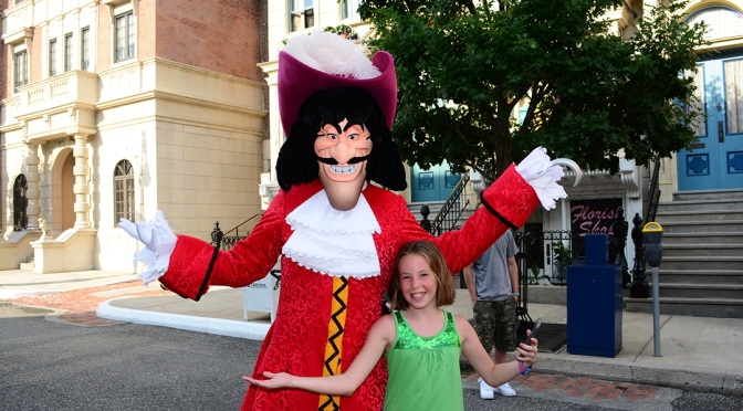 Captain Hook at Character Palooza at Hollywood Studios
