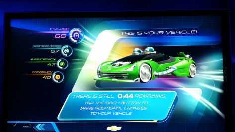 Car design at Test Track at Epcot