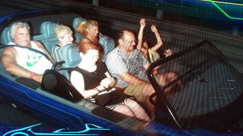 On ride photo at Test Track at Epcot