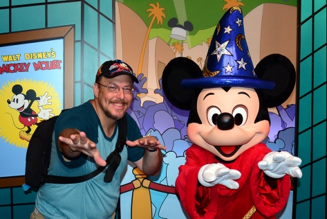 Disney's Hollywood Studios meet and greet Sorcerer Mickey