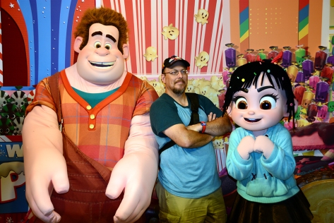 Disney's Hollywood Studios meet and greet Wreck-it Ralph and Vanellope