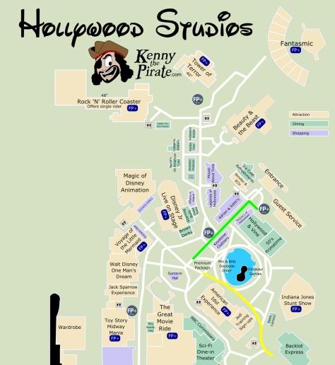 Hollywood Studios  Parade Map KennythePirate
