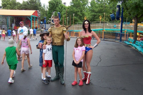 Aquaman and Wonder Woman Six Flags Texas 2007