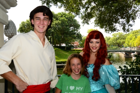 Ariel and Eric at Epcot Trainng meet at International Gateway September 2014 (2)