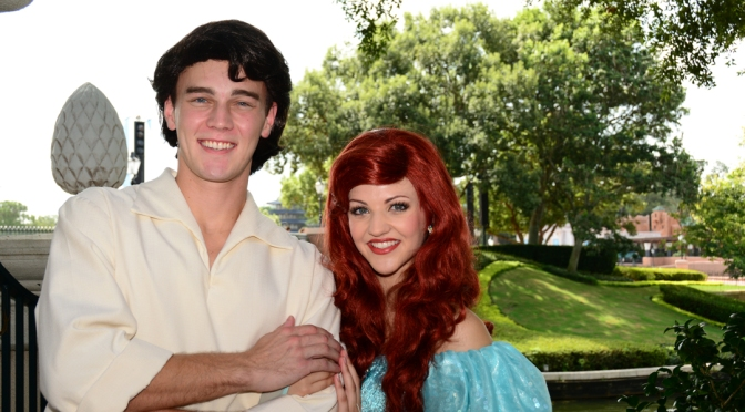 Ariel and Eric training meet at Epcot's International Gateway
