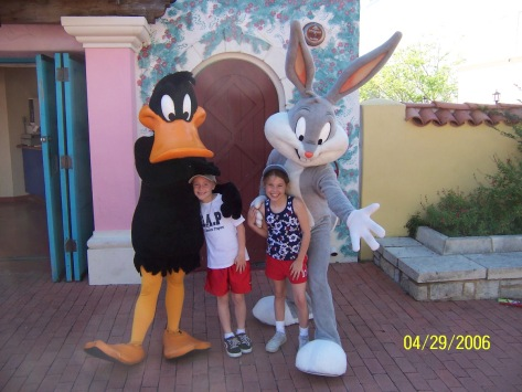 Daffy Duck and Bugs Bunny Six Flags San Antonio 2006