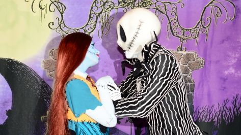 Mickey's Not So Scary Halloween Party 2014 Jack Skellington & Sally meet and greet