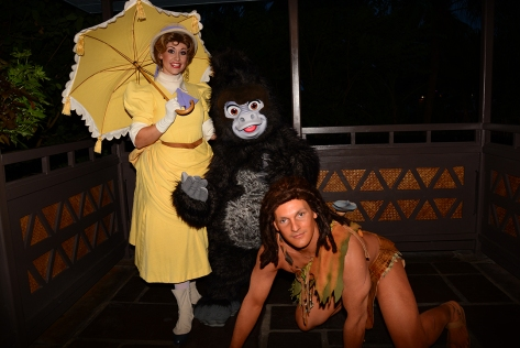 Mickey's Not So Scary Halloween Party 2014 Tarzan Jane and Terk meet and greet