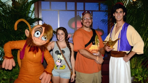 Mickey's Not So Scary Halloween Party 2014 Aladdin and Abu meet and greet