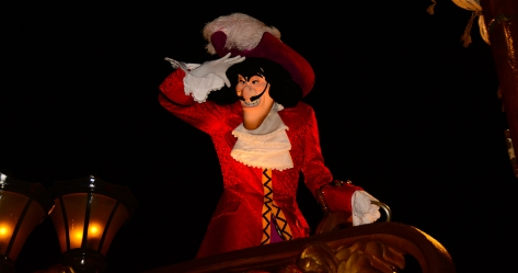 Mickey's Not So Scary Halloween Party 2014 Boo to You Halloween Parade Captain Hook