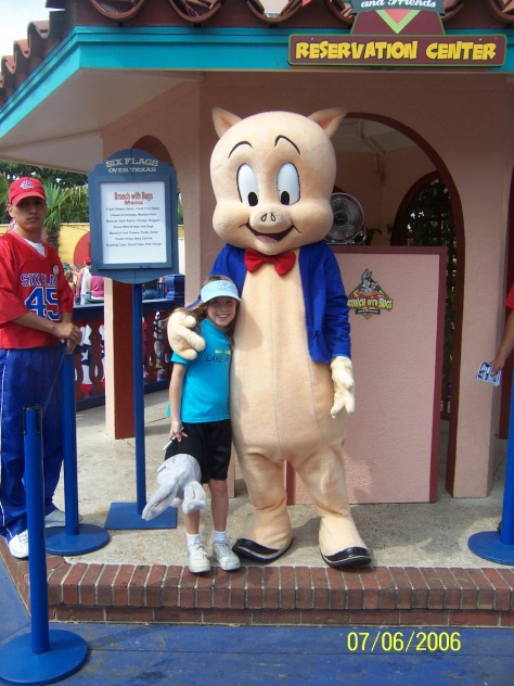 Porky Pig Six Flags Texas 2006