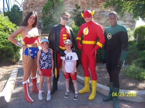 Wonder Woman Robin Flash and Green Lantern Six Flags San Antonio 2006